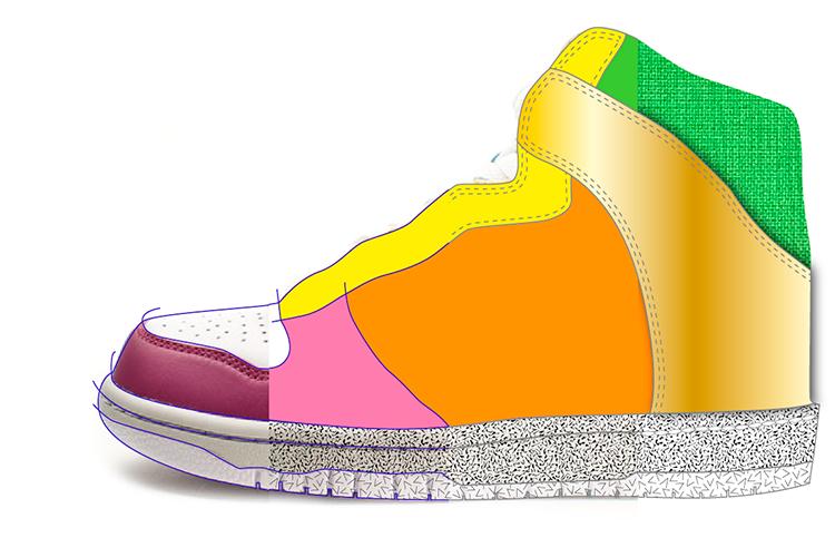 ejemplo trabajo de ilustración calzado
